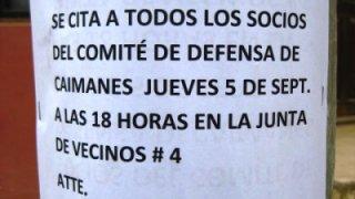 Affiche contre Minera Los Pelambres