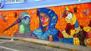 Inti Castro, célèbre street-artiste Chilien