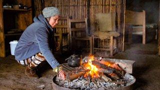 Femme mapuche de la communauté du Lago Budi