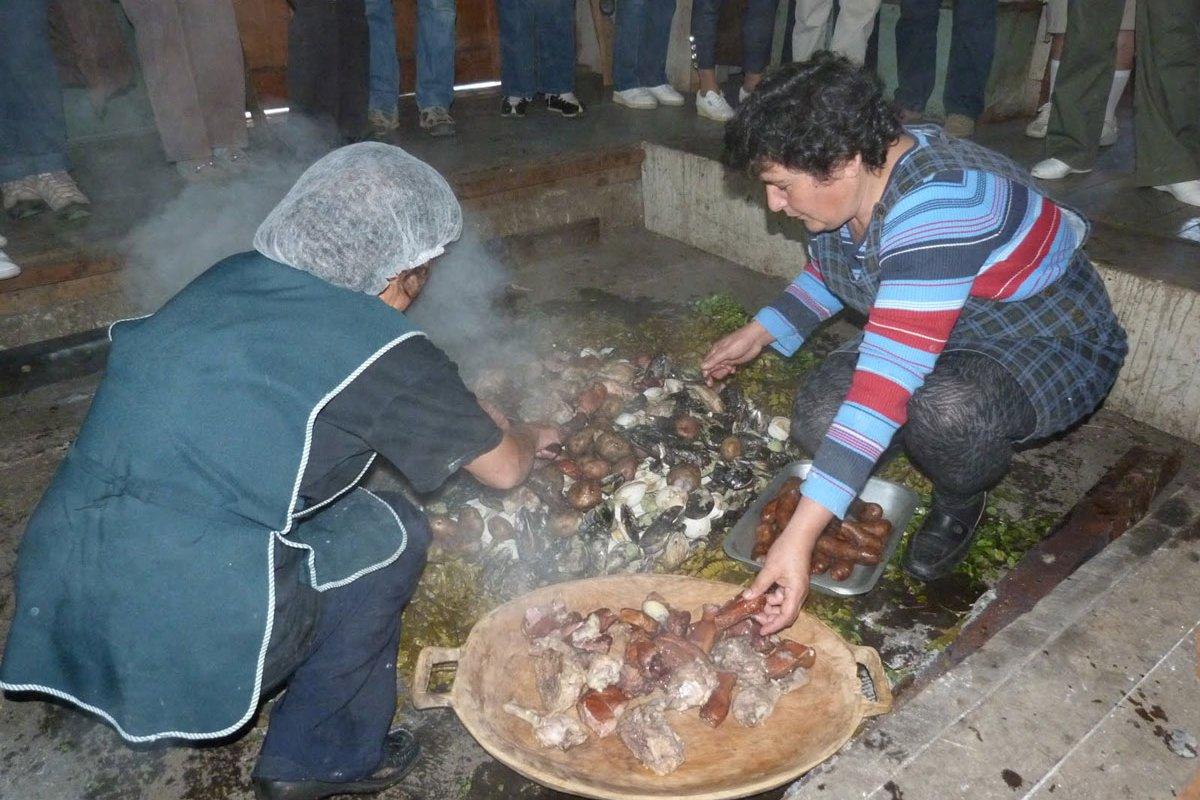 Curanto, plat typique de Chiloé