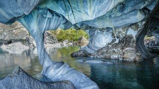 Grottes de marbre, Carretera Austral, Puerto Tranquilo, Chili