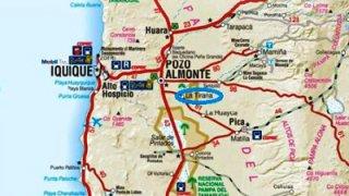 Carte de la Tirana - Nord du Chili