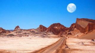 L'amphithéâtre est une belle formation géologique de la vallée de la Lune - Chili