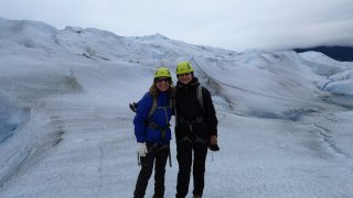 Maud et Caroline sur le glacier Grey