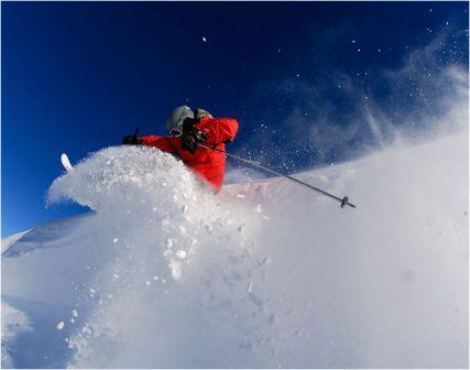 Ski à la valle nevado au chili