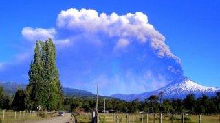 volcan fumee