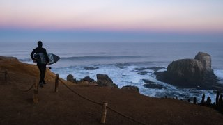 Plage de surf au Chili